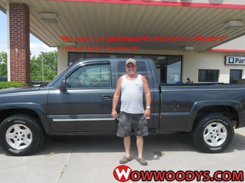 """Kenneth and Kelly Tipton from Meadville, Missouri purchased this 2004 Chevrolet Silverado and wrote, """"We have now purchased 6 vehicles from Woody's. We have received top customer service with each purchase."""" To view similar vehicles and more, go to www.wowwoodys.com today!"""