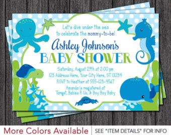 Baby Shower Whale Invitation Whale Baby Shower Invitation Etsy