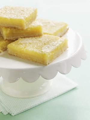 Fresh Lemon Squares with Homemade Cookie Crust