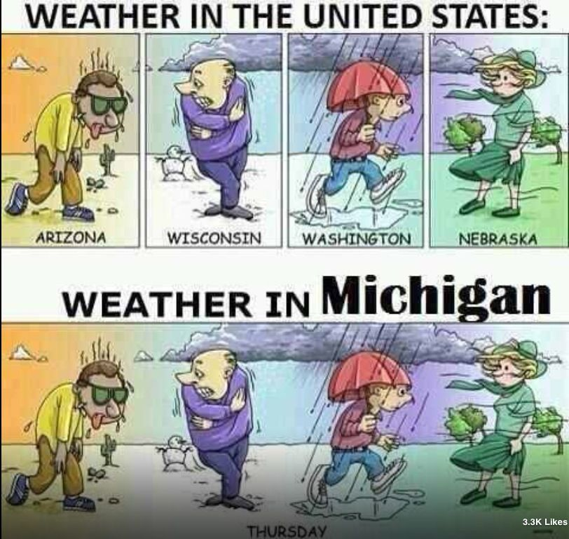 4 seasons in one day... Michigan, Texas weather