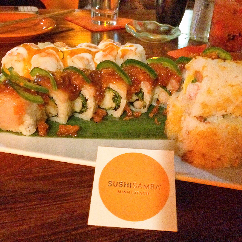 Sushi Samba | Miami Beach | Lincoln Road | Hampeno roll was amazing ...
