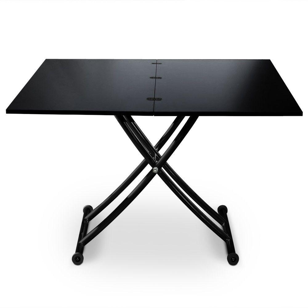 Table Basse Relevable Carrera Noir Carbone Table Basse Relevable Table Reglable Table Reglable Hauteur