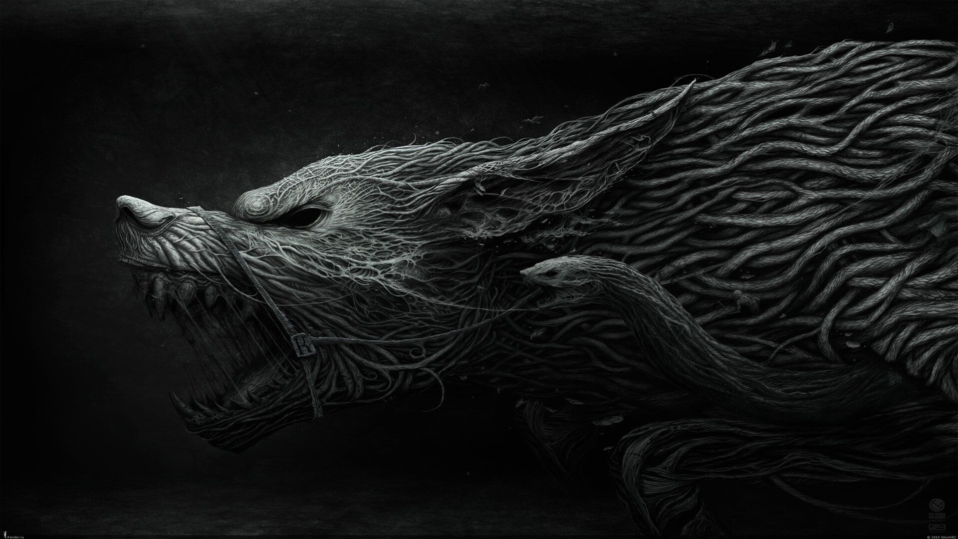 15 Scariest Norse Mythology Creatures Monster List Wolf Wallpaper Dark Fantasy Art Wallpaper