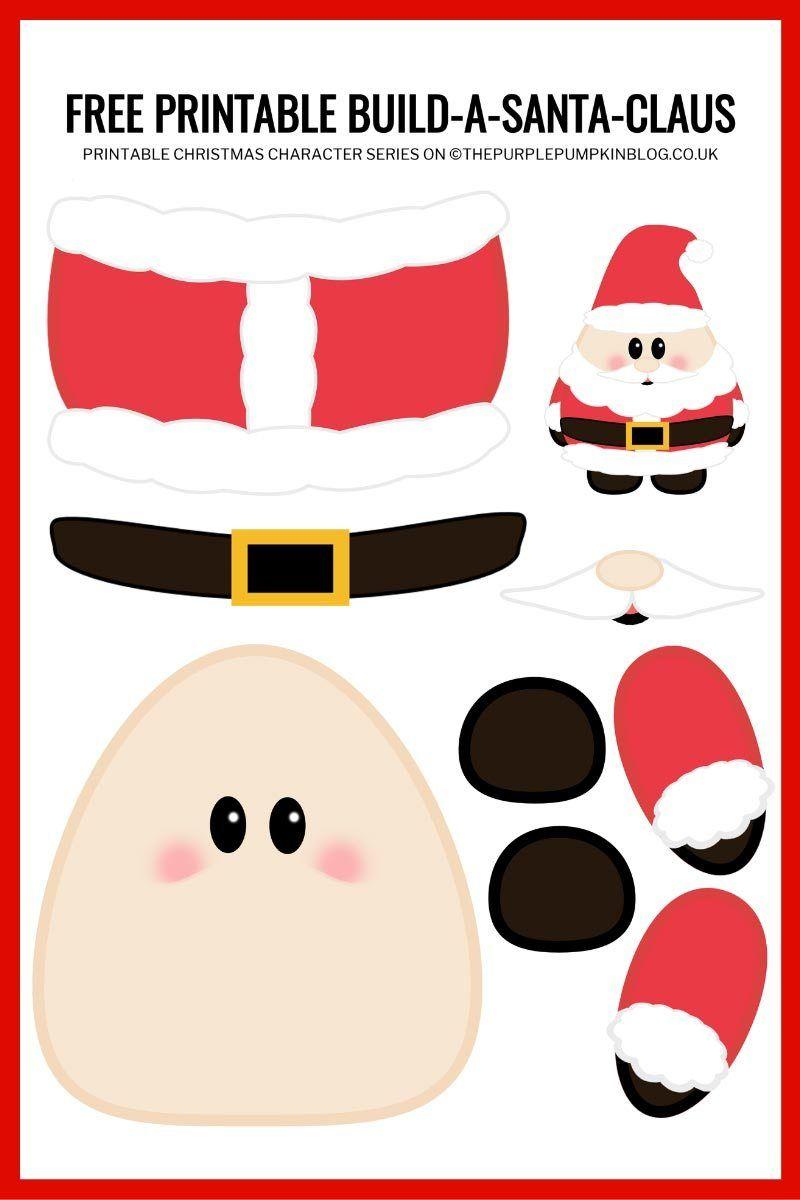 Build A Santa Printable | Free Printable Paper Santa Claus ...