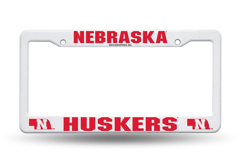 Nebraska Huskers White Plastic License Plate Frame NEW Free Shipping!  sc 1 st  Pinterest & Nebraska Huskers White Plastic License Plate Frame NEW Free Shipping ...