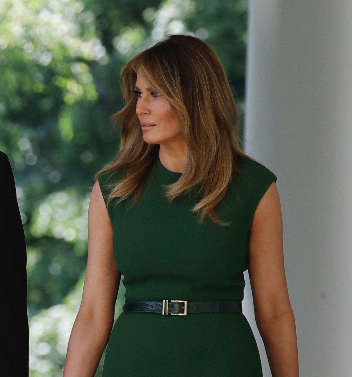Fashion Notes Melania Trump Takes Florals to New Heights