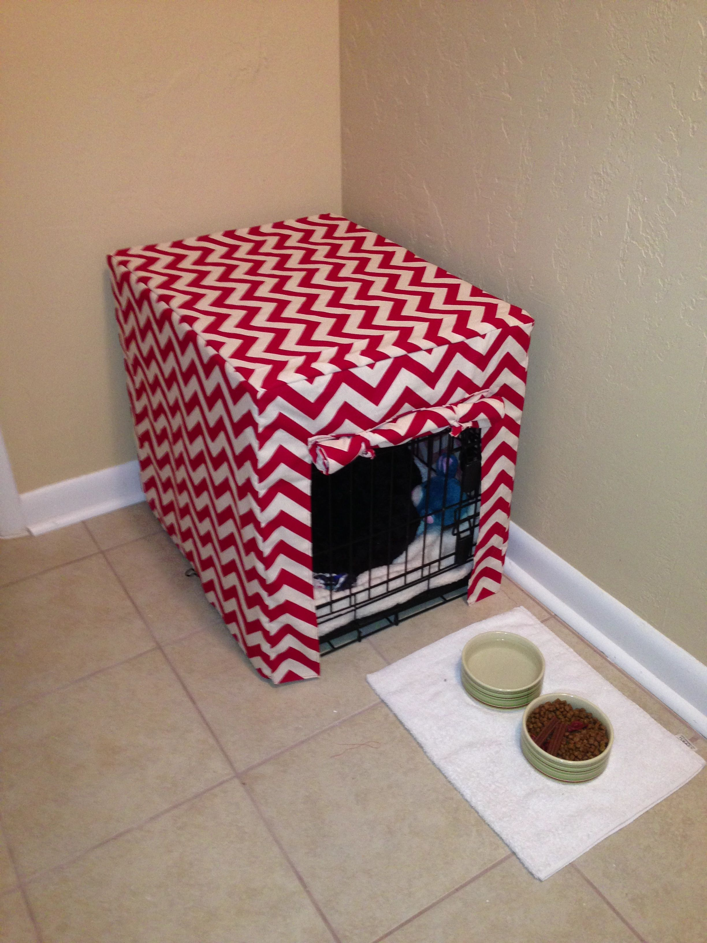 Dog Crate Cover Chevron I Want The Pattern To Sew This