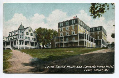Peaks Island Maine House Coronado Union Hotel C1910 Postcard Ebay