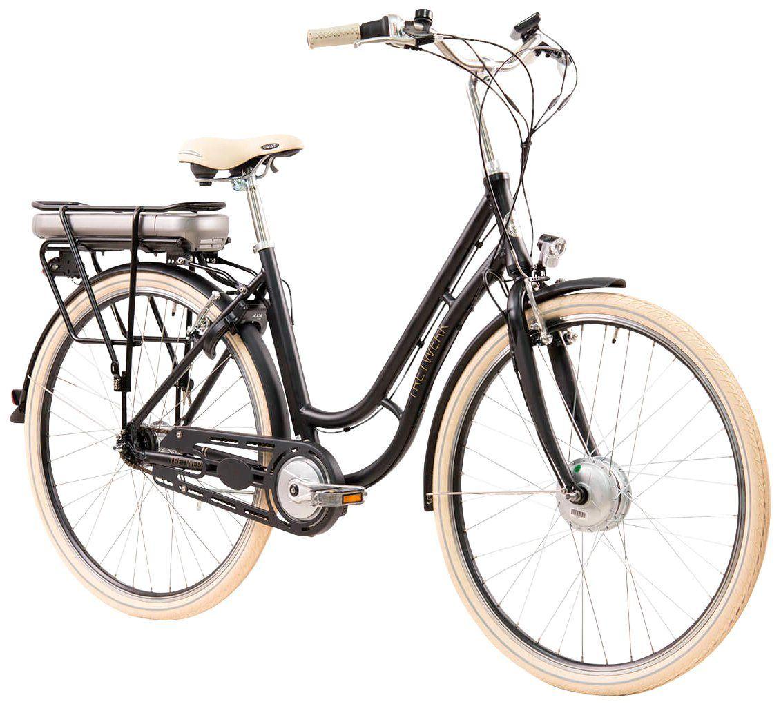 Tretwerk E Bike City Damen Traveler 28 Zoll 7 Gang Frontmotor 418 Wh Online Kaufen Fahrrad Damen E Bike City Und Fahrrad