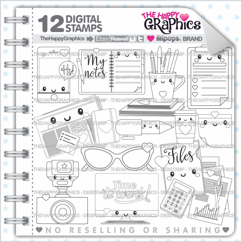 Office Stamps, Commercial Use, Digi Stamp, Digital Image