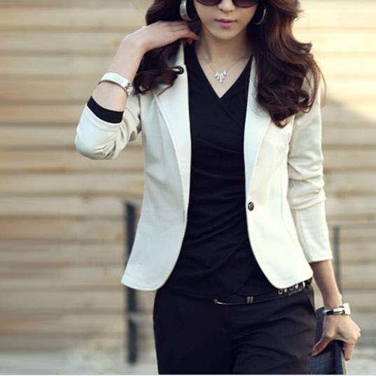 Barato Feliz SZ Ms. primavera e outono versão coreana do novo moda feminina casual magro pequena chiffon paletó FWT004, Compro Qualidade Blazers diretamente de fornecedores da China:                                [Tecido] camisola não material de bomba