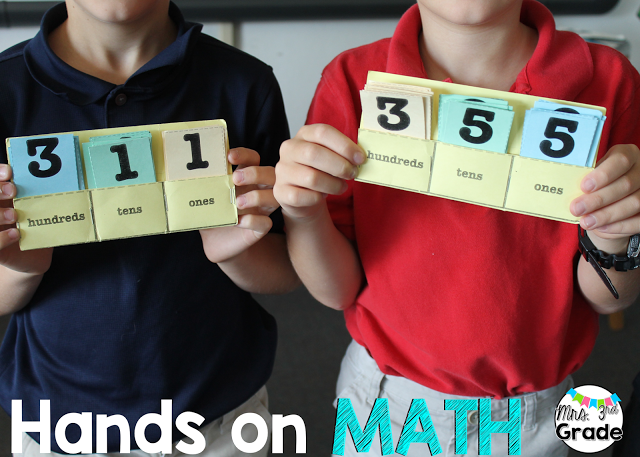 Practicing math skills getting students up and moving around the room helps students be more engaged.