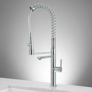 Lakota High Rise Kitchen Faucet with Spring Spout - Chrome