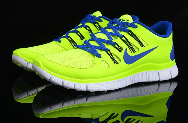 Fluorescent Green Nike Free 5.0 Mens Blue 579959 740   Nike Free 5.0 Mens    Pinterest