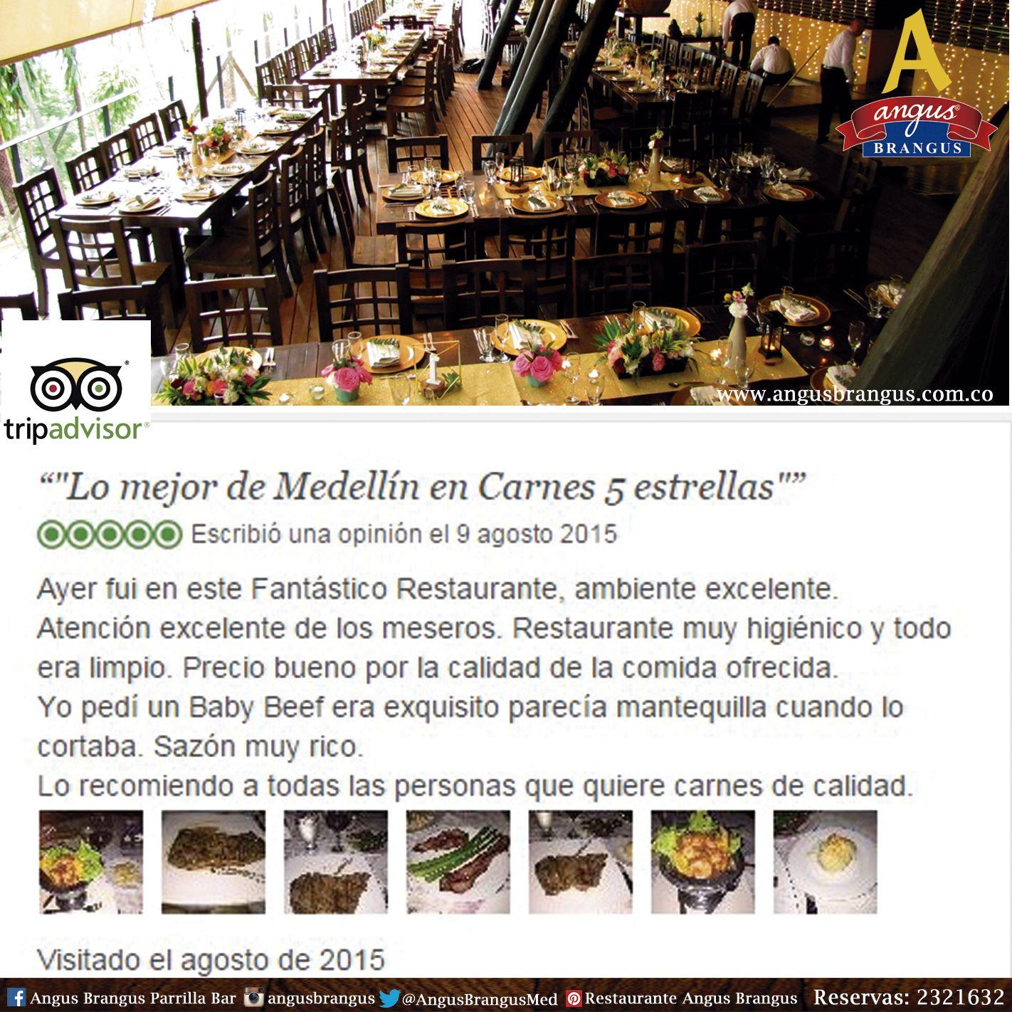 Recuerda dejarnos tu percepción y tu experiencia registrada en nuestras redes sociales. Es muy importante para mejorar cada día y seguir ofreciendo lo mejor de nosotros. http://ow.ly/NVnxQ   #Tripadvisor #Medellín #Restaurantes #AngusBrangus