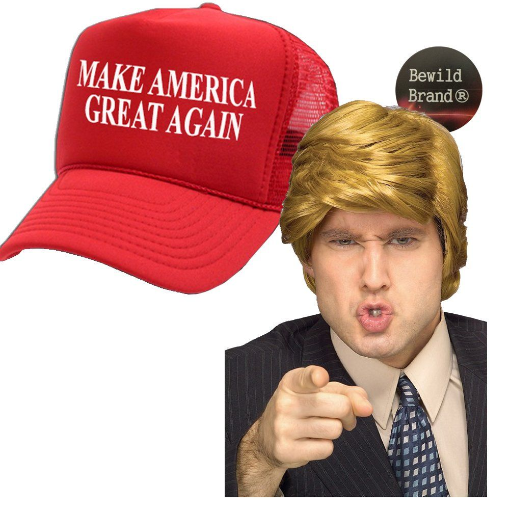 Rubies Costumes Billionaire Donald Trump President Boss Fired USA Politics Wig