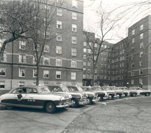 Veterans Cab Co. Taxis In Front Of Oakwood Manor Apts