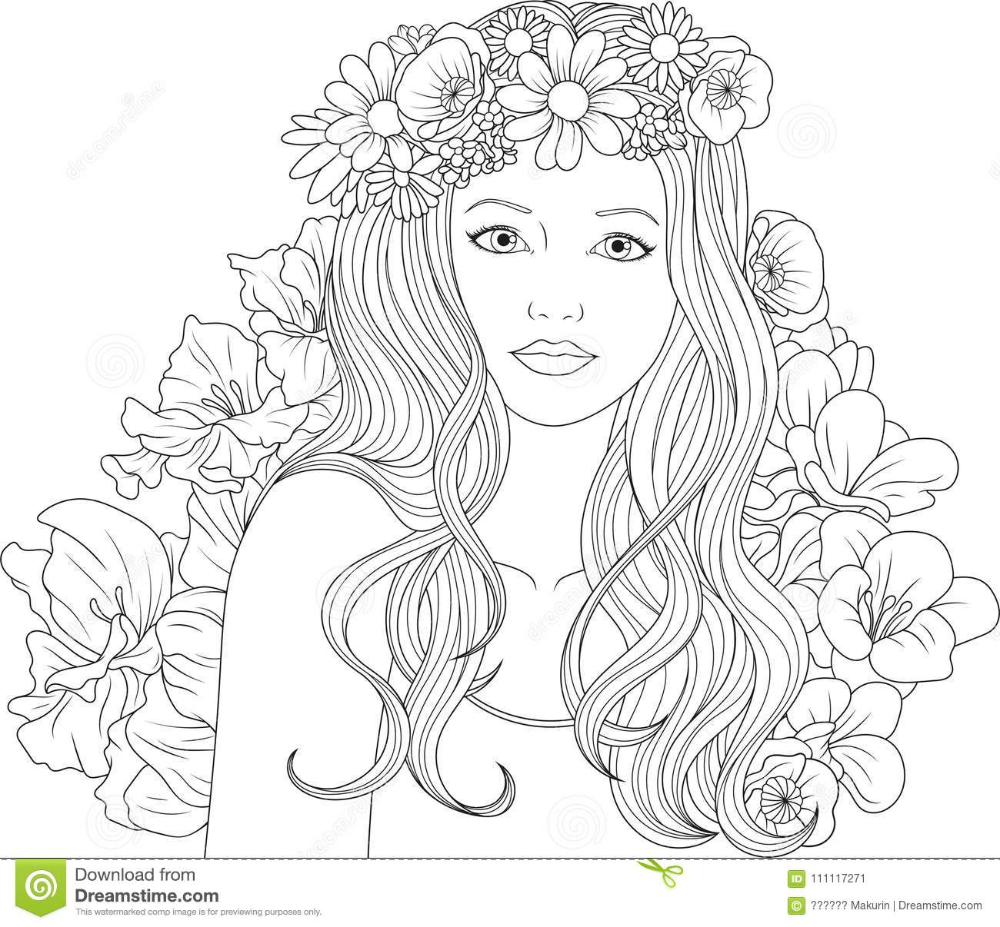 Coloring Pages Beautiful Girl Coloring Pages Stock Vector Illustration Of Easy Printable Pretty F In 2020 Coloring Pages For Girls Cute Coloring Pages Coloring Pages