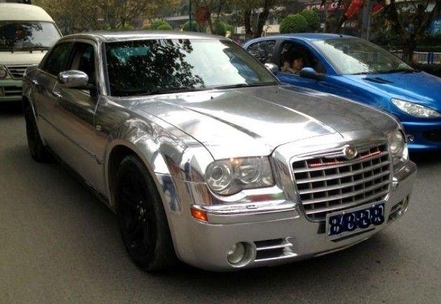 Chryler 300c Is Bling In China Car Wrap Chrysler 300c Chrysler 300