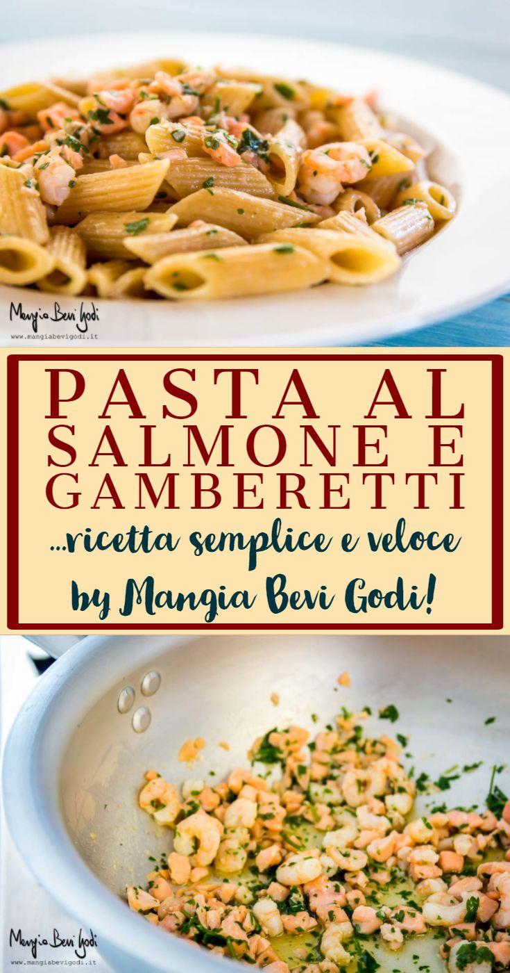 Photo of Pasta al salmone e gamberetti. Ricetta di Mangia Bevi Godi