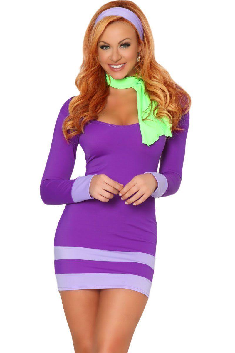 Enge Halloween Kostuums.3wishes Mystery Solver Costume Sexy School Girl Halloween