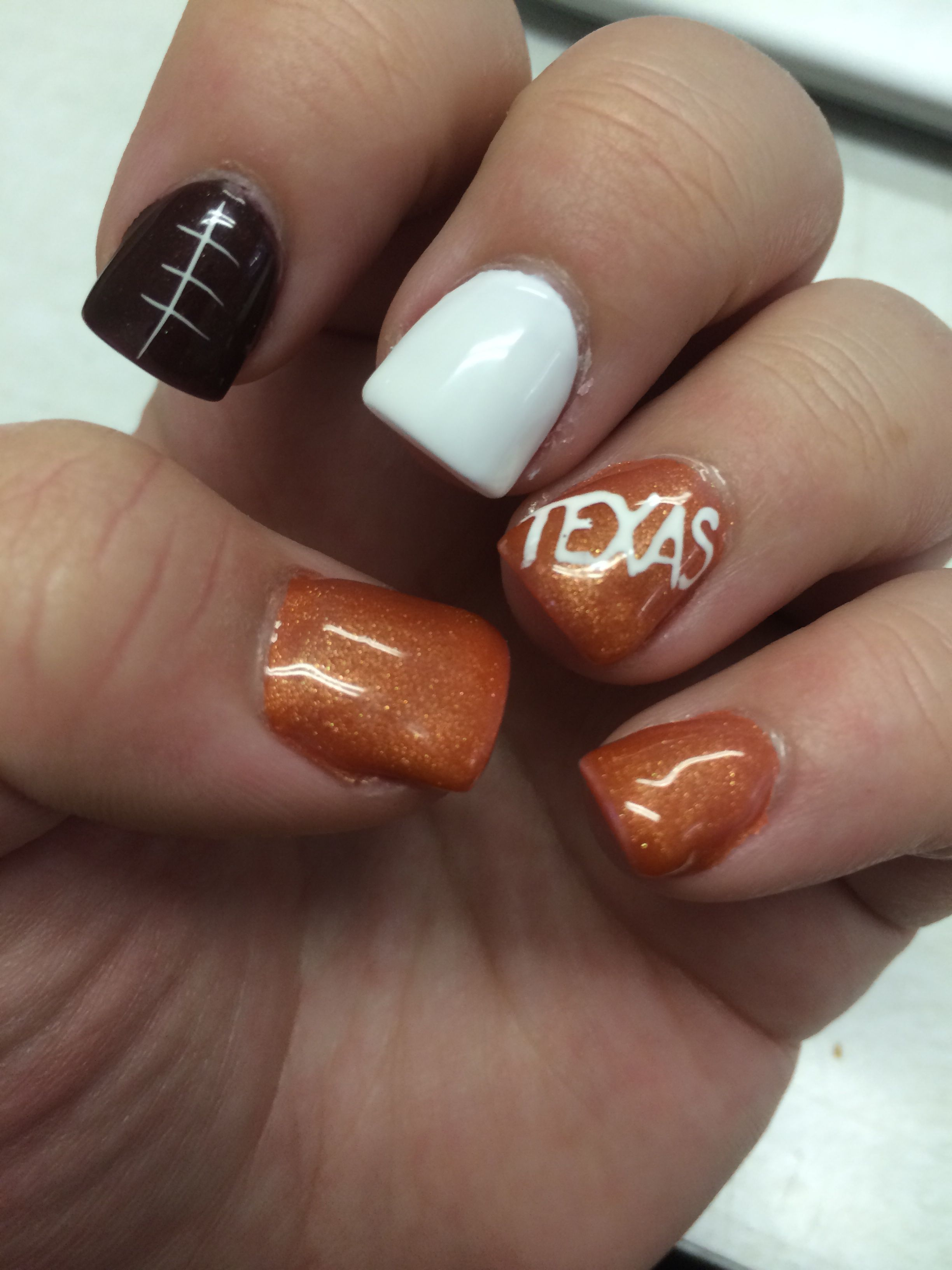 Texas Longhorn nails by Marlene H. Modesto Calif. | nail | Pinterest ...