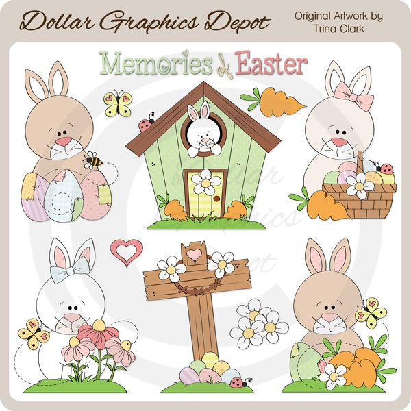 Easter Time 2 Clip Art 1 00 Dollar Graphics Depot Quality