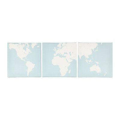 Ikea world map print set of 3 canvas down to earth gumiabroncs Gallery