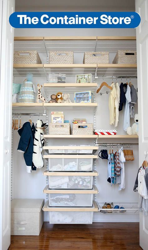 Baby Closet Organization Ideas Standard Closets Are Notorious For Their  Inefficient Use Of Space U2014 Thatu0027s Even More Pau2026 | Tips From The Container  Store ...