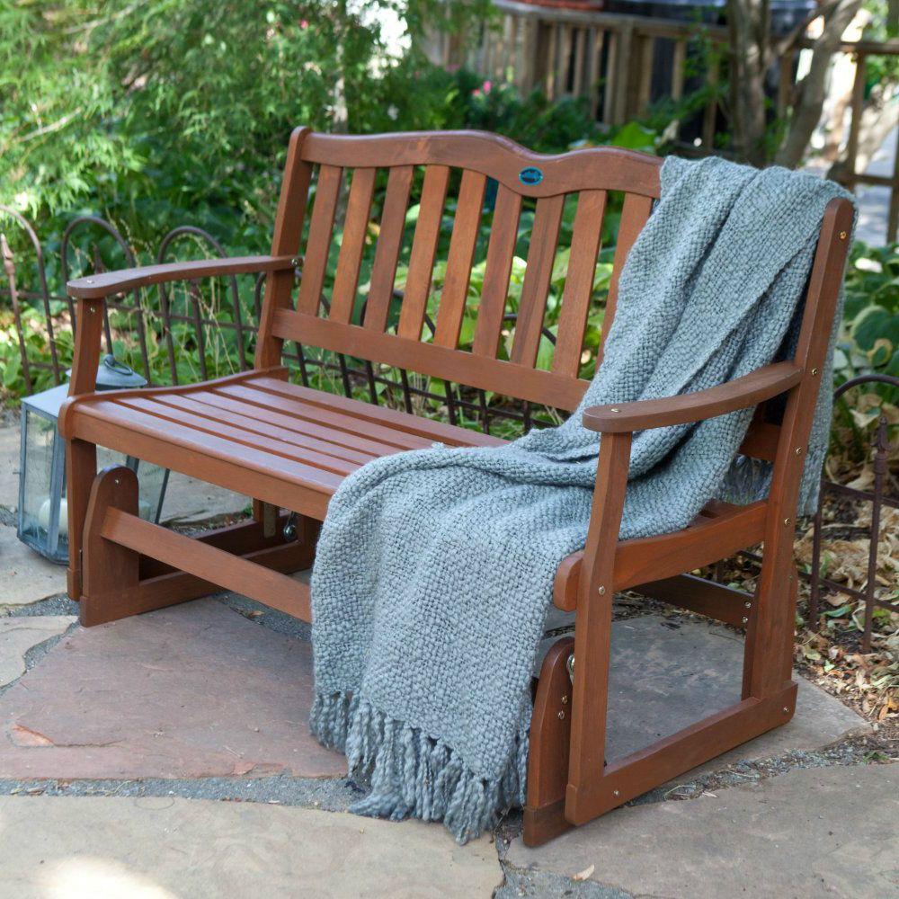 Outdoor Patio Glider Bench Rocker Loveseat Porch Deck Swing