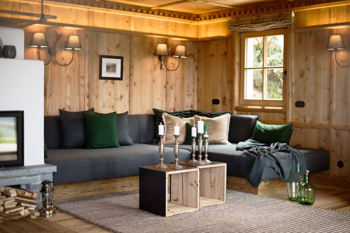Wohnbereich Des Luxus Chalet Sporer Alm Im Zillertal