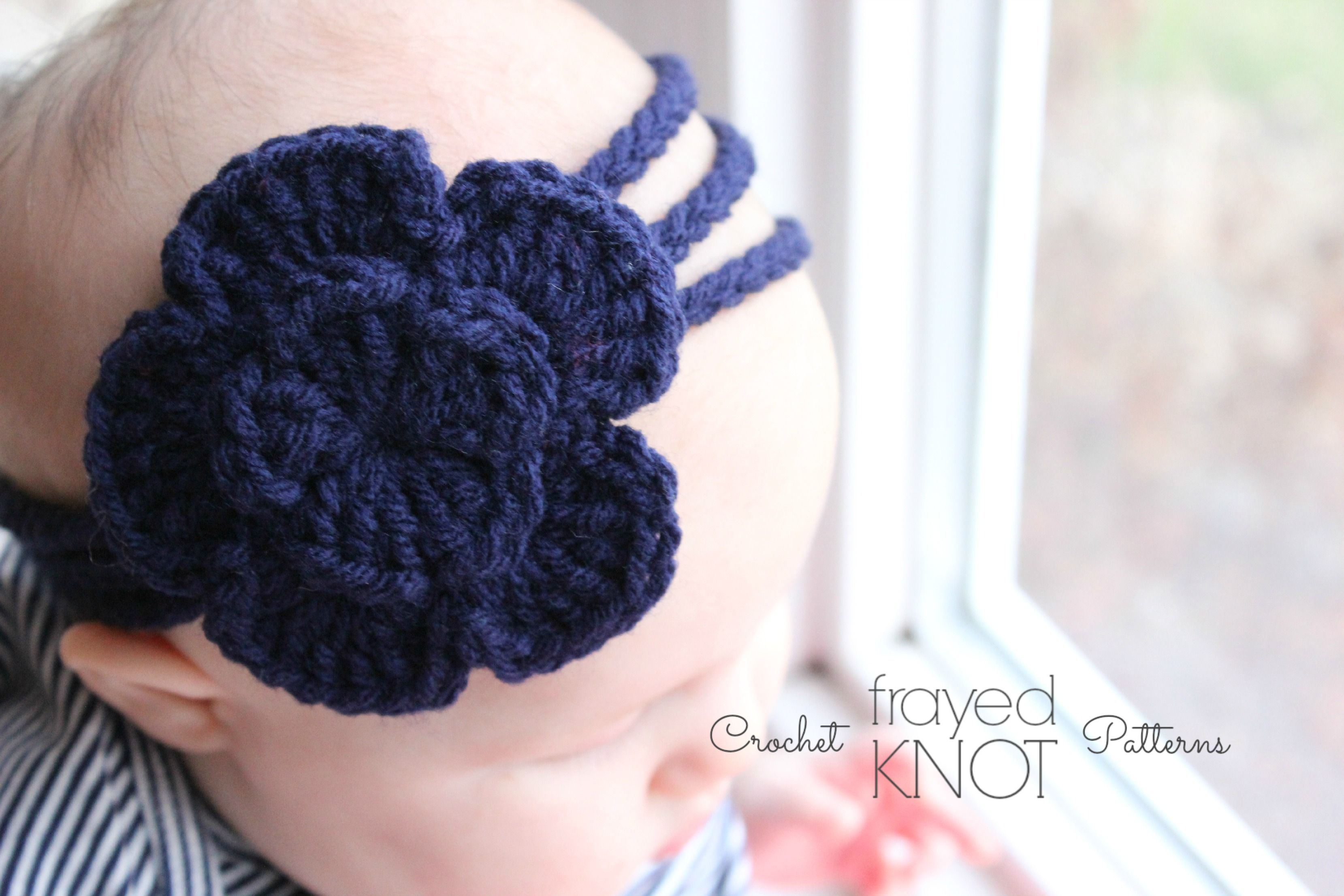 New FREE pattern from Frayed Knot! The 3 Strand Flower Headband ...