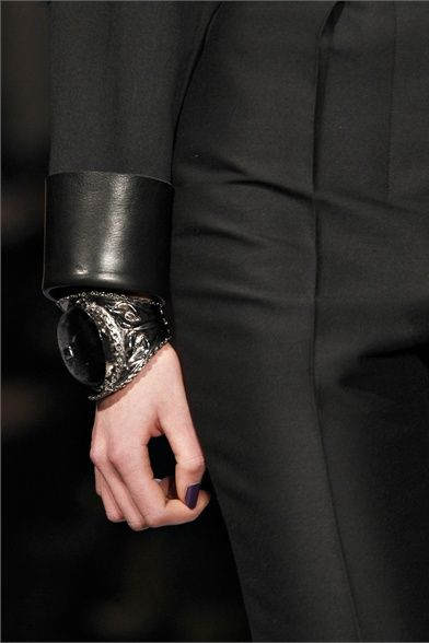 @YSL leather/dominatrix-like cuff can toughen up any look.