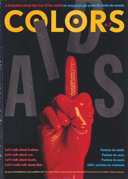 Tibor Kalman, Oliviero Toscani | Colors cover 1991-1995 ✭ fight AIDS ✭ graphic inspiration