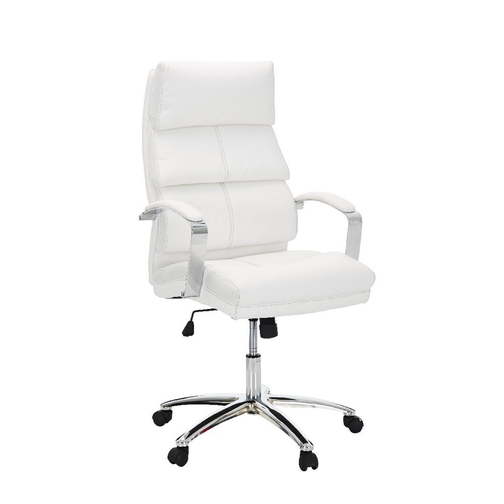 harvard high back executive chair in white from officeworks aud