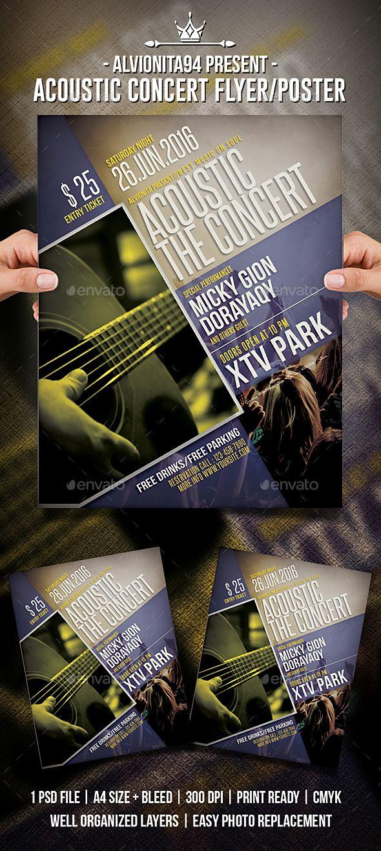 Acoustic Concert Flyer / Poster | Utiles y Cosas