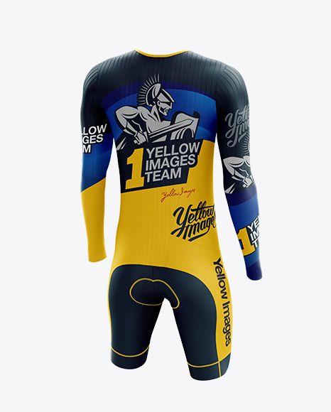Download Men S Cycling Speedsuit Ls Mockup Back Half Side View In Apparel Mockups On Yellow Images Object Mockups Clothing Mockup Design Mockup Free Shirt Mockup