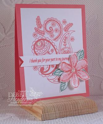 Stampin' Up! Paisleys & Posies and Garden In Bloom. Debbie Henderson…