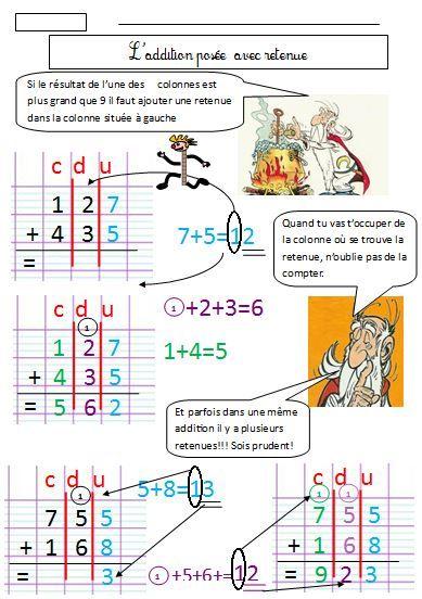Addition pos e avec retenue cole pinterest additions ce1 ce1 ce2 et math matiques ce2 - Addition et soustraction ce1 ...