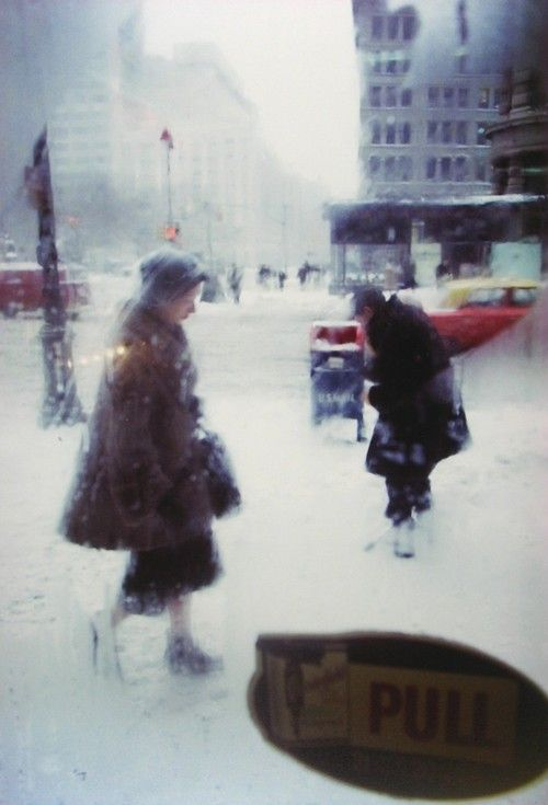 'Snow Storm', c. 1960 by Saul Leiter