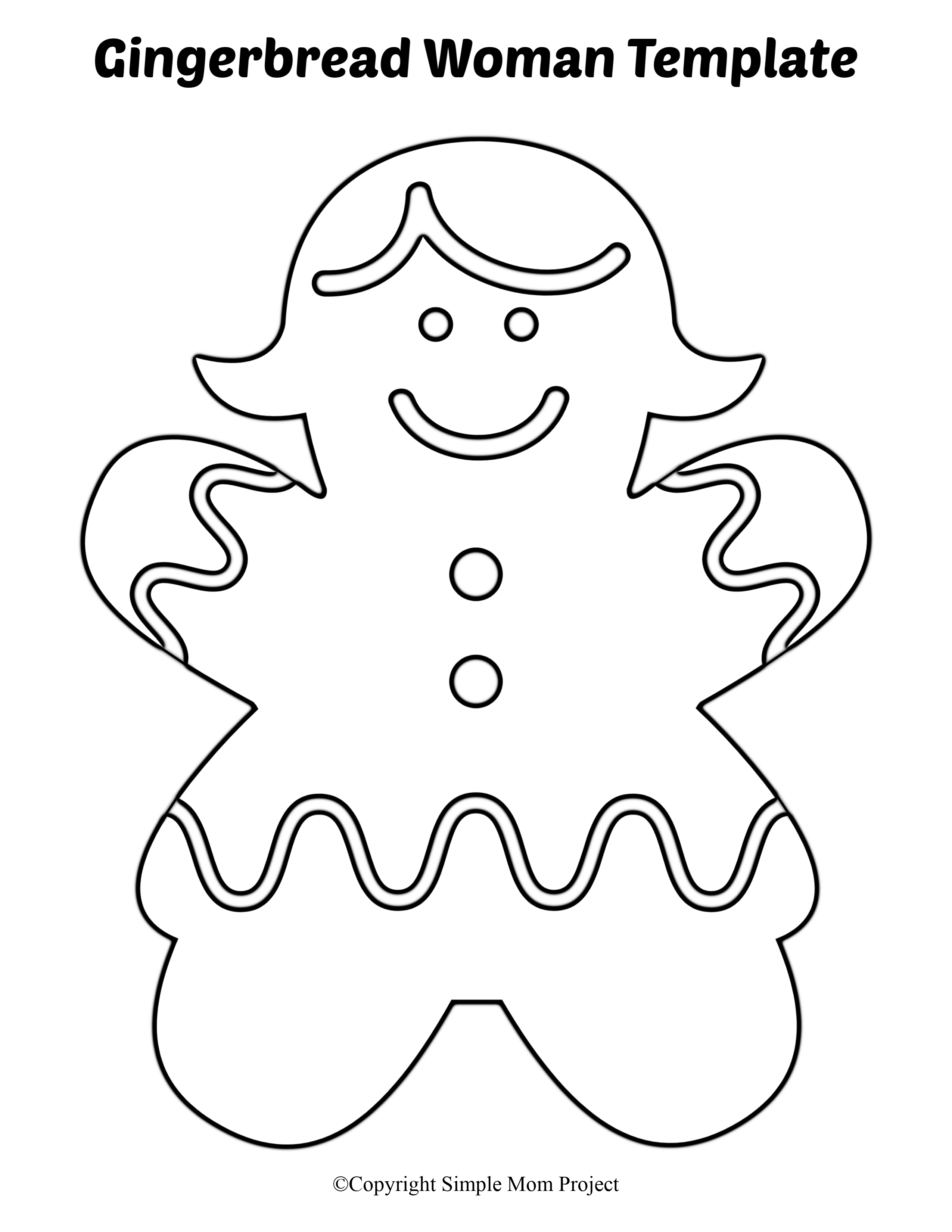 8 Free Printable Large and Small Gingerbread Man Templates
