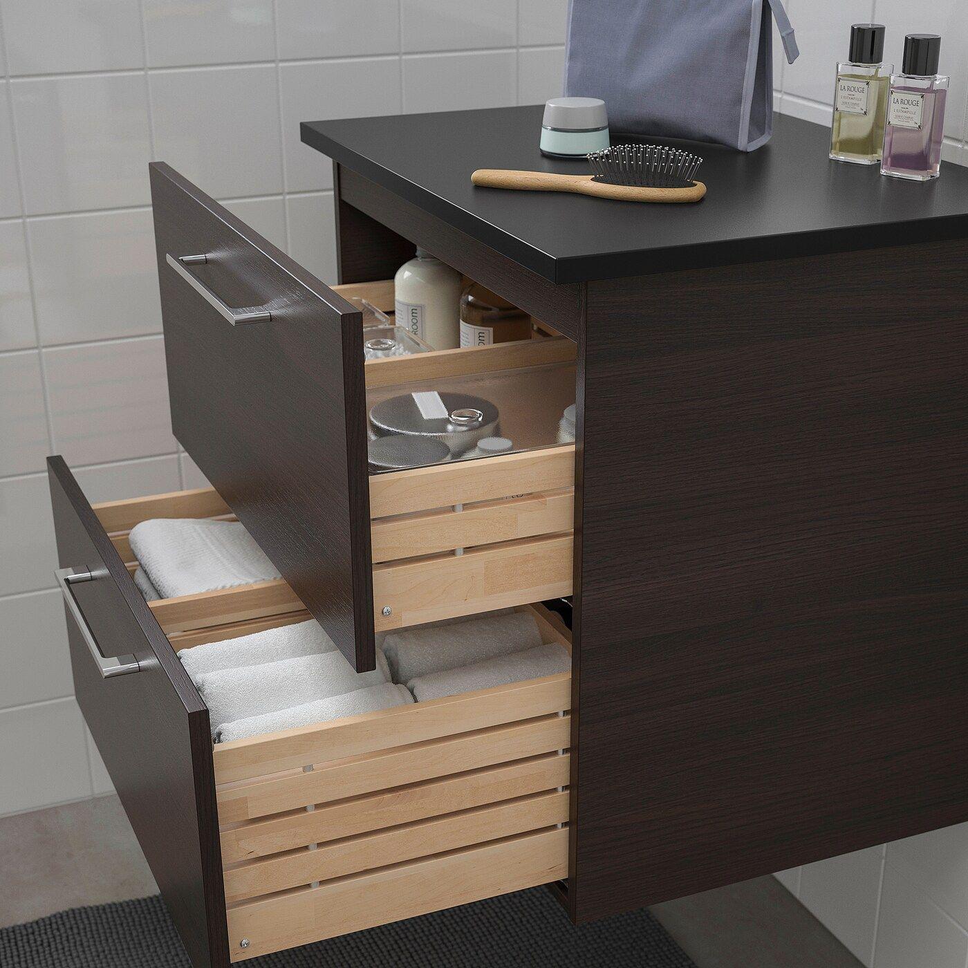 Godmorgon Tolken Waschbeckenschrank 2 Schubl Schwarzbraun In 2020 Waschbeckenschrank Schrank Und Ikea
