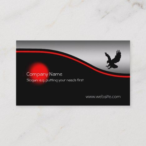 Swooping Eagle Red Spot Metallic Effect Business Card Zazzle Com Business Cards Cards Quality Cards