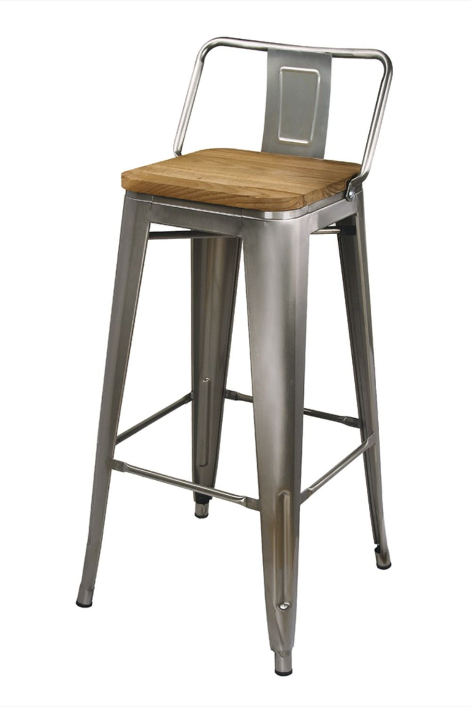 30 Industrial Style High Back Metal Bar Stool Gunmetal Counter Stools Wood Seat Ebay In 2020 Metal Bar Stools Metal Bar Stools Kitchen Bar Stools