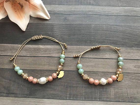 d6b14c648b22 Set de pulseras madre e hija. Mother and daughter bracelet set ...