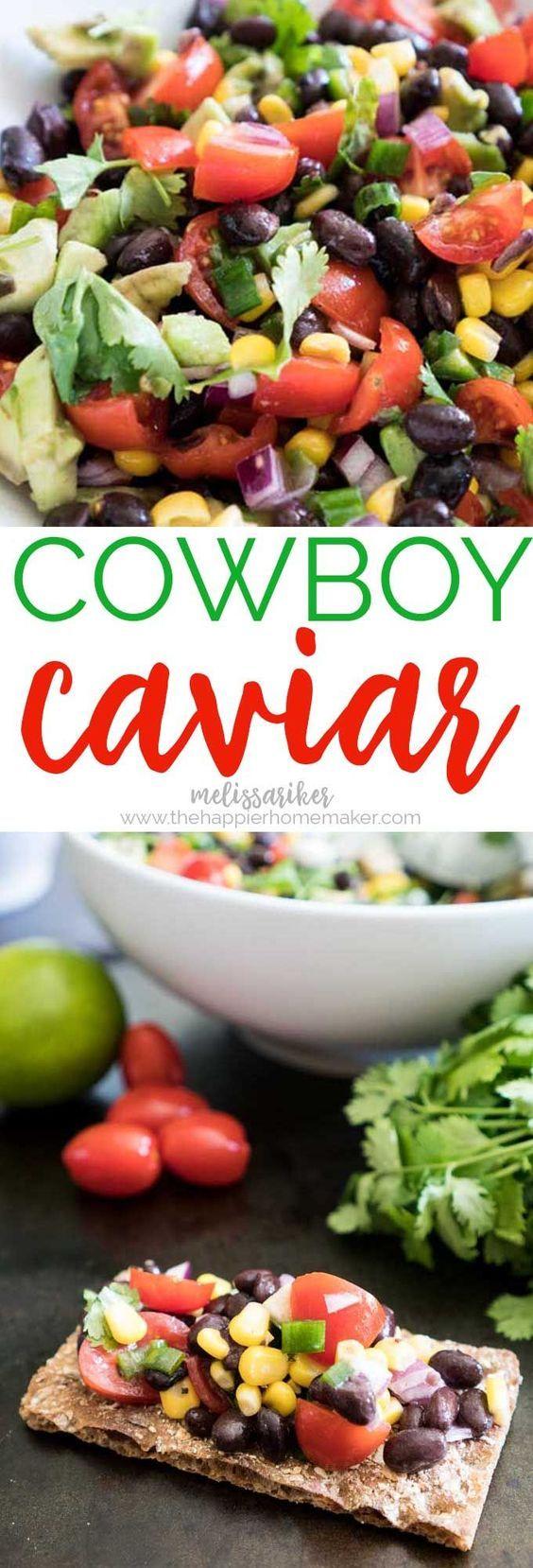 Cowboy Caviar - Easy Black Bean & Corn Salad
