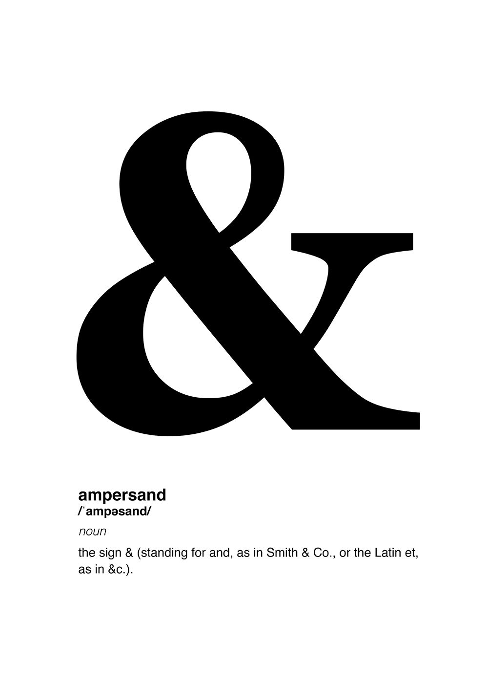 Definition of a poster design - Poster Definition Of Ampersand