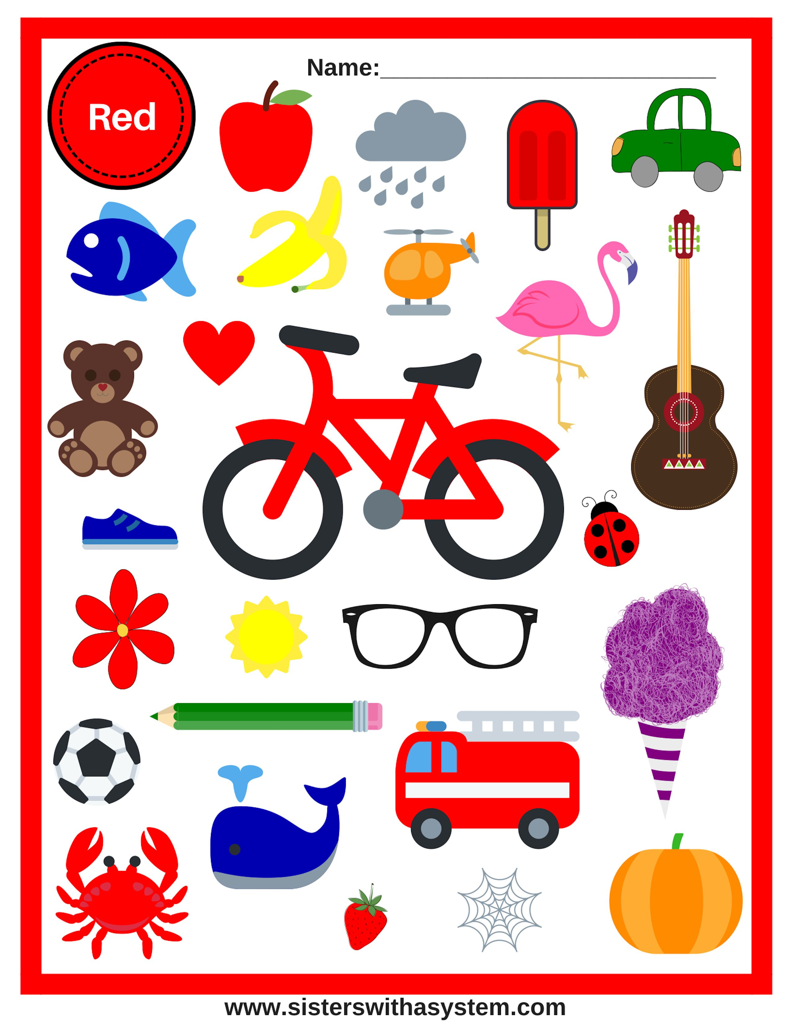 photo about Look and Find Printable named Visual appearance-and-Uncover Shades Sheets Free of charge Homeschool Printables