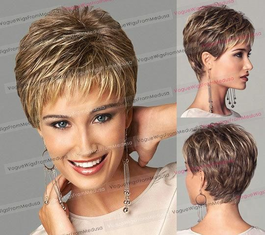 Compre Moda Europea Y Americana Mujer Rubia Peluca Mullida - cortes de cabello corto para mujer