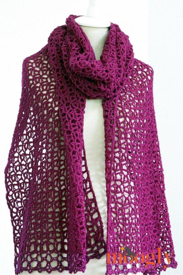moogly crochet wrap free pattern | Bufandas | Pinterest | Abrigos ...